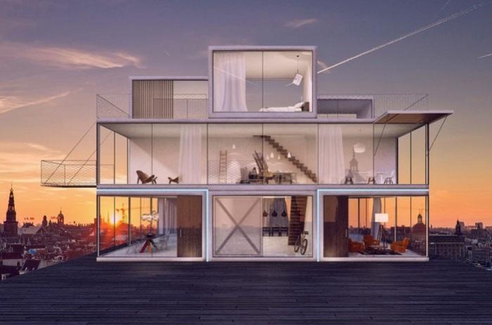 Tetris House - прототип модульного, при необходимости меняющего конфигурацию.