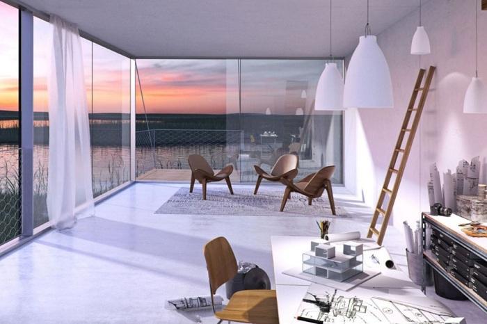 Tetris House. Возможный дизайн интерьера дома.