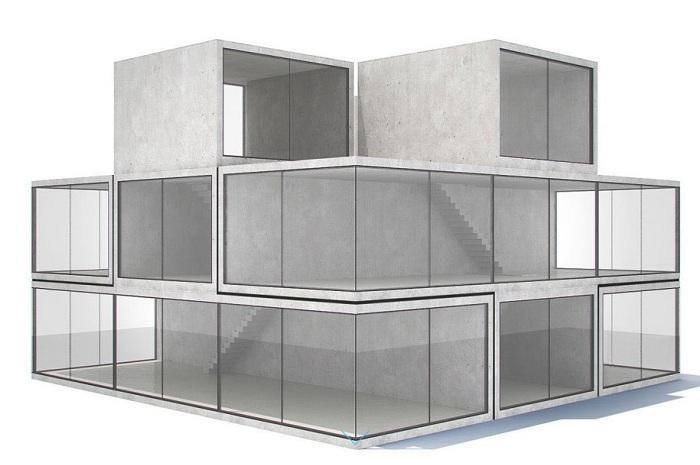 Прототип модульного дома.