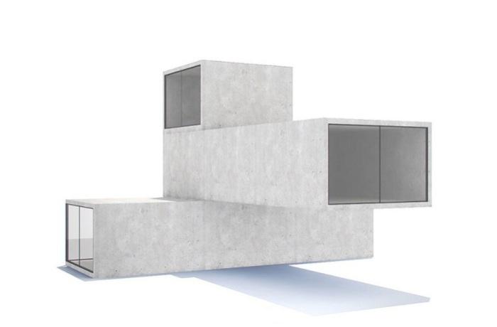 Возможная конфигурация модульного дома.