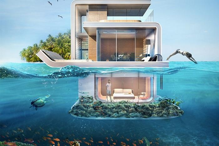 The Floating Seahorse - проект плавучей виллы.