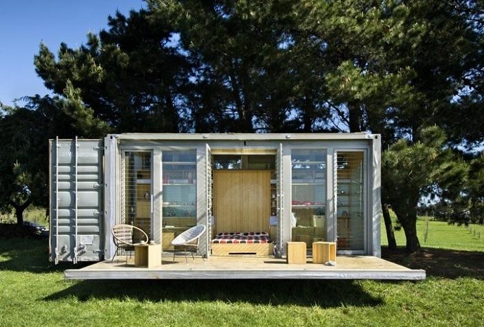 Port-A-Bach - домик из контейнера.