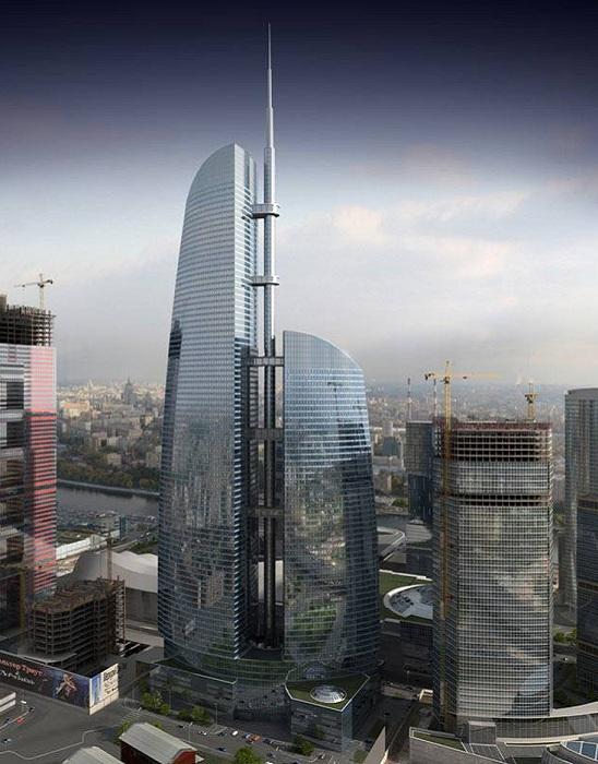 Башня «Восток» в Москва-сити.