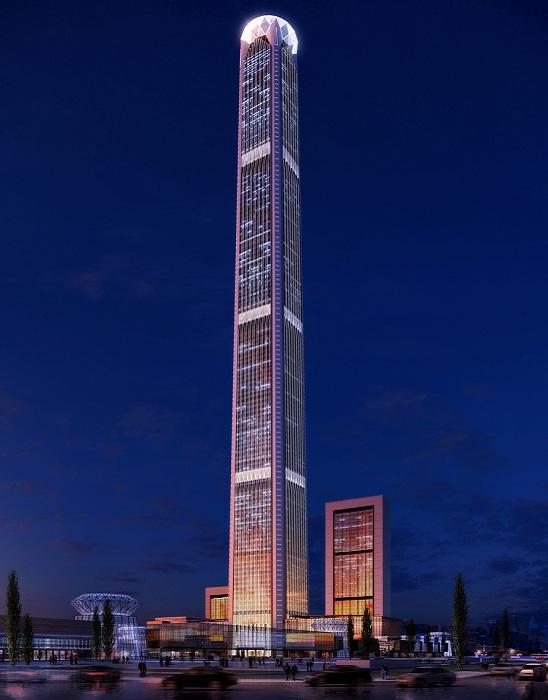 Goldin Finance 117 - башня высотой 597 метров.