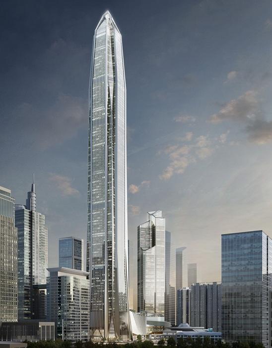 Ping An Finance Center - небоскреб, который будет достроен в 2016 году.