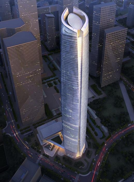 Wuhan Center Tower - небоскреб в китайском городе Ухань.