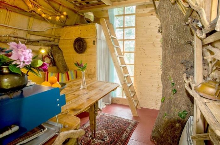 Tree Sparrow House - дом, построенный вокруг дерева.