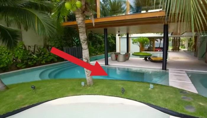 Гостей в этом доме удивляет то, что скрыто под бассейном.