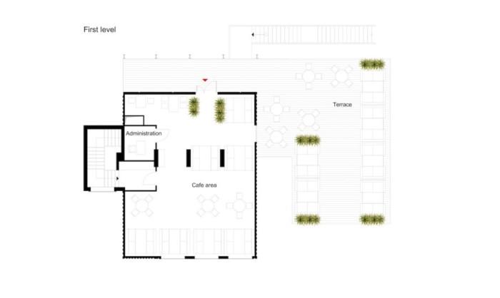 Unit Cafe. План второго этажа.