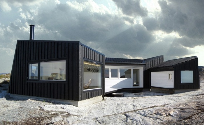 Cabin Vardehaugen - дом на скалистом хребте.