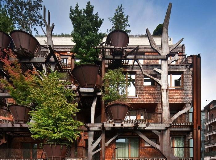 Проект дома с фасадом из растений от дизайнера Luciano Pia.