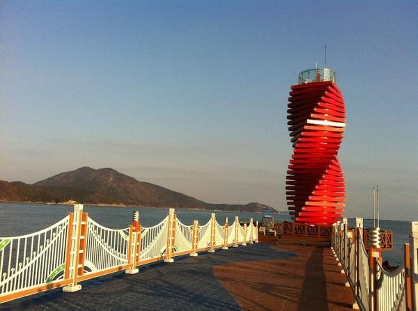 Wando Hang lighthouse. Маяк.