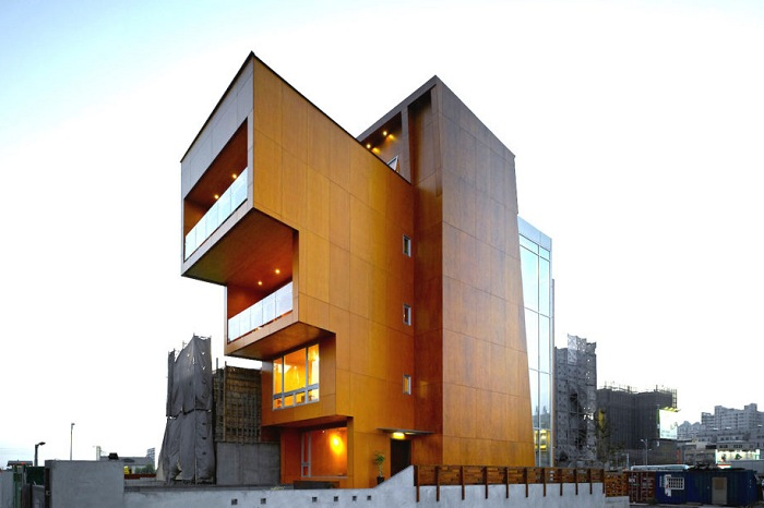 Здание из кросс-ламинированной древесины.