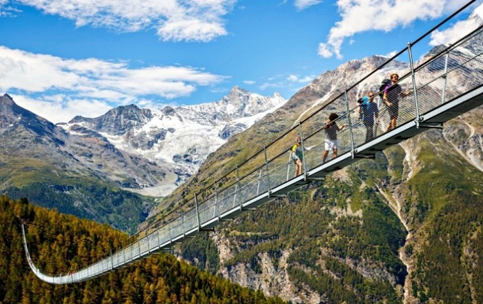 Самый длинный в мире пешеходный подвесной мост.