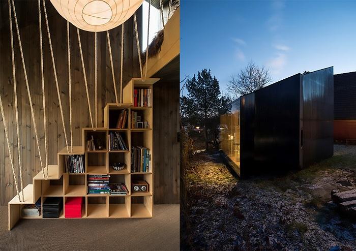 Контраст фасада и интерьера.