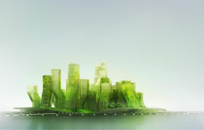 X SEA TY - плавучий город с вертикальными садами.