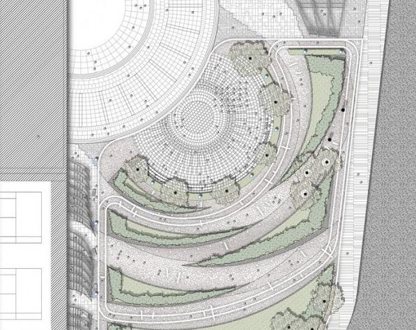 Схема парка Zhangmiao Exercise Park.