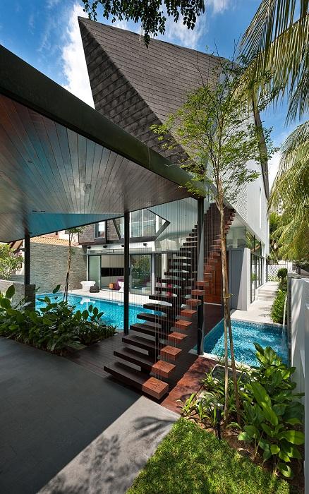 Жилой особняк в Сингапуре.