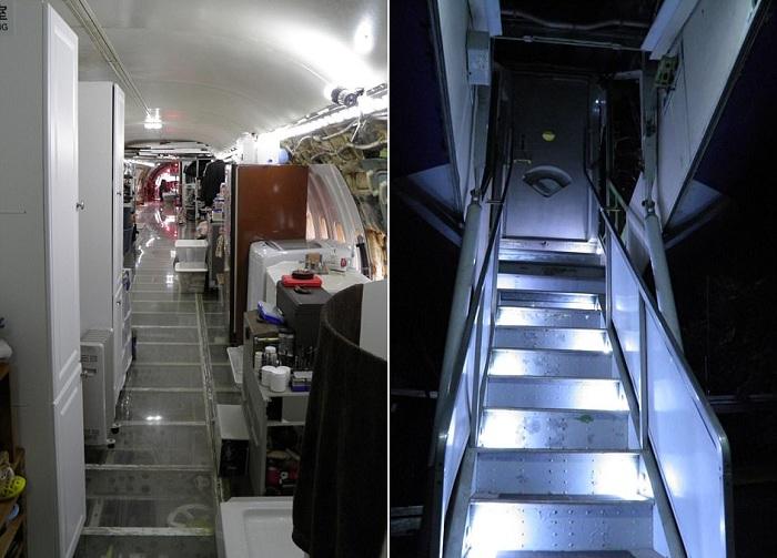 Боинг 727, переоборудованный под жилище.