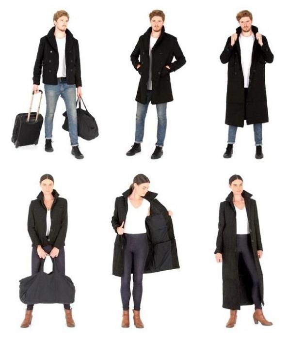 Пальто Airport Jacket, которое превращается в куртку.