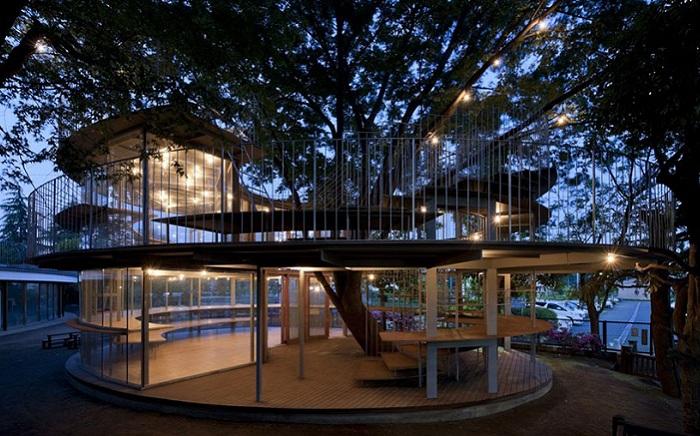 Fuji - инновационный детский сад, где деревья - главные аттракционы.