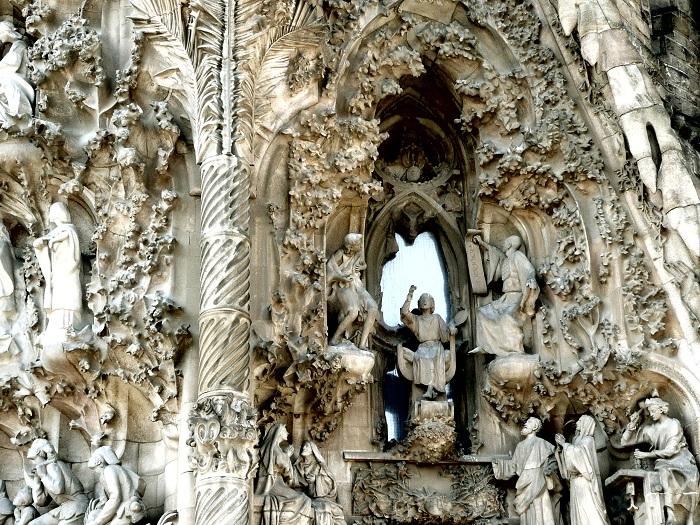 Temple Expiatori de la Sagrada Familia. Фасад здания. | Фото: tourism-spot.com.
