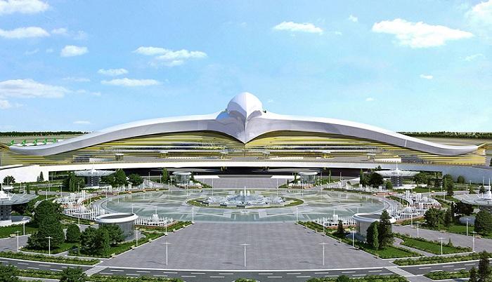 В Туркменистане строится потрясающий международный аэропорт.