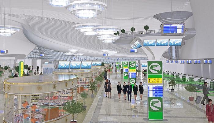 Будущий аэропорт в Ашхабаде.