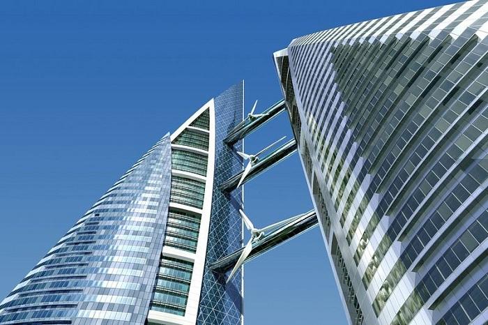 Bahrain World Trade Center - торговый центр с ветрогенераторами.
