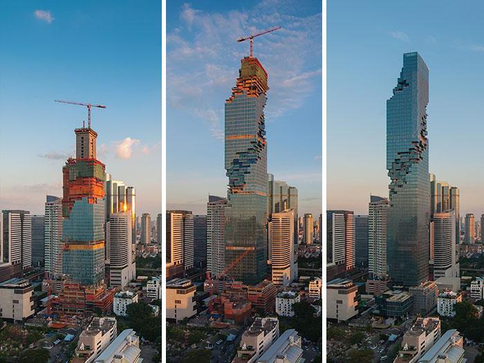 MahaNakhon - самое высокое здание в Бангкоке.