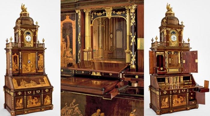 Секретер, сделанный мастером Абрахамом Рентгеном и его сыном Давидом.