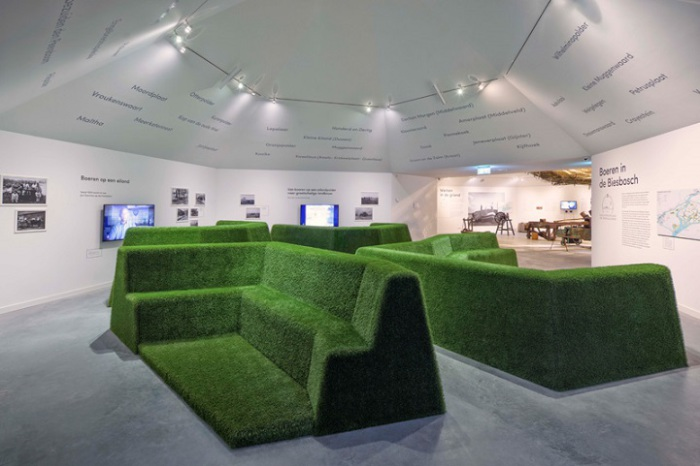 Музей Biesbosch. Оригинальный дизайн интерьера.