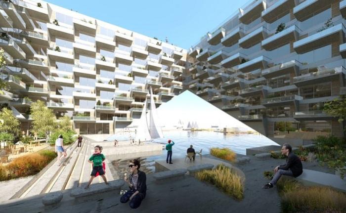 Sluishuis - проект жилого дома в Амстердаме.