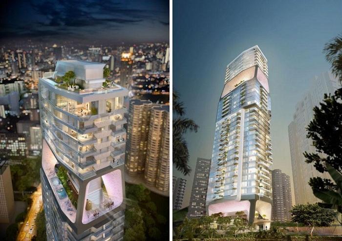 Проект башни «Scotts Tower».