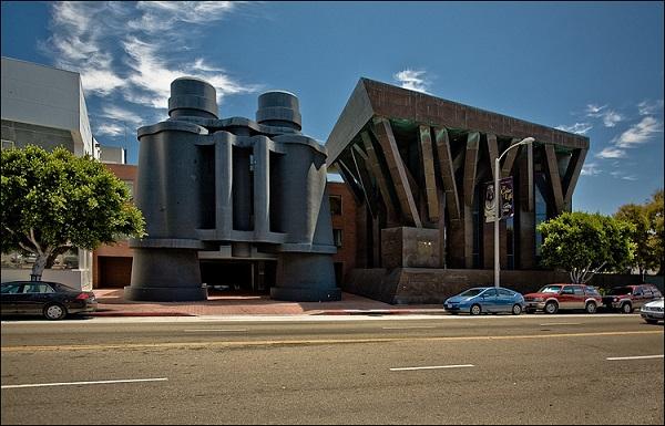 Binocular building.