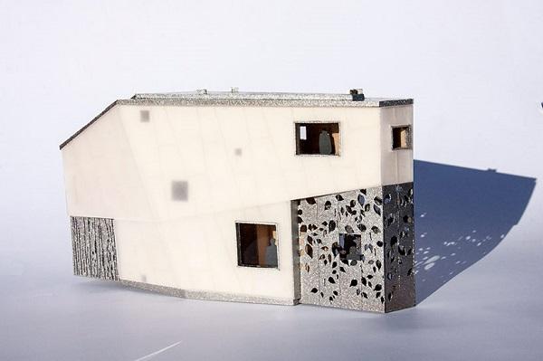 Проект дома, разработанного для писателя.