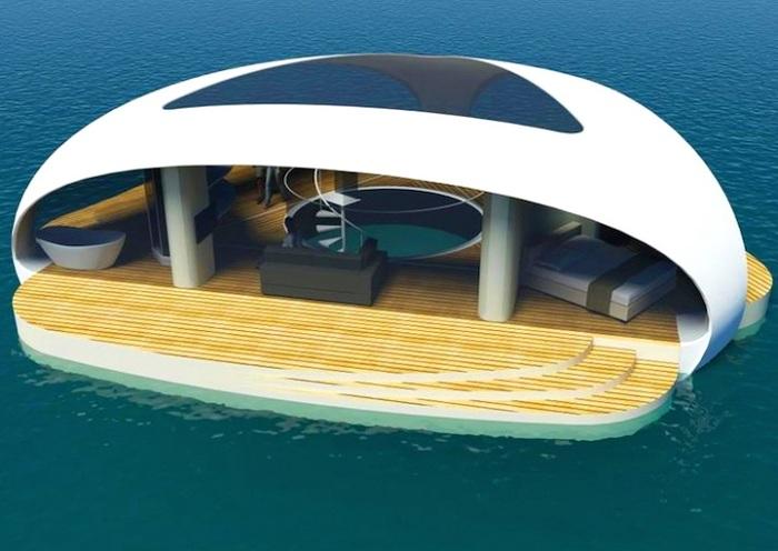 SeaScape - концепт плавающих вилл.