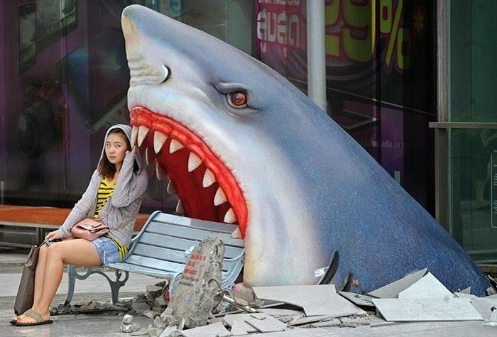 «Атака акулы». Мини-остановка, расположенная в Таиланде.