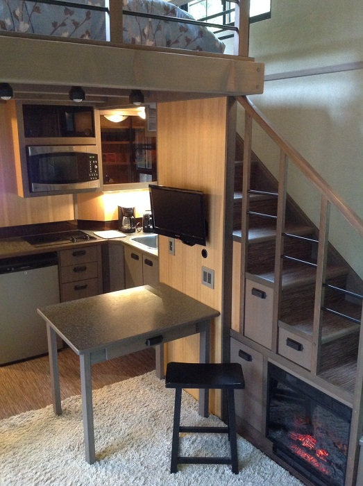Мини-кухня в Tiny House.