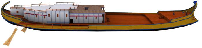 Компьютерная реконструкция облика древнеримского судна Калигулы. | Фото: ru.wikipedia.org.