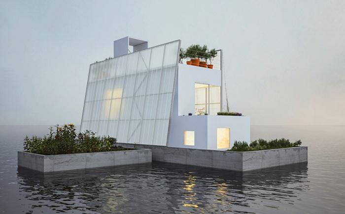 Концепция плавающего дома.