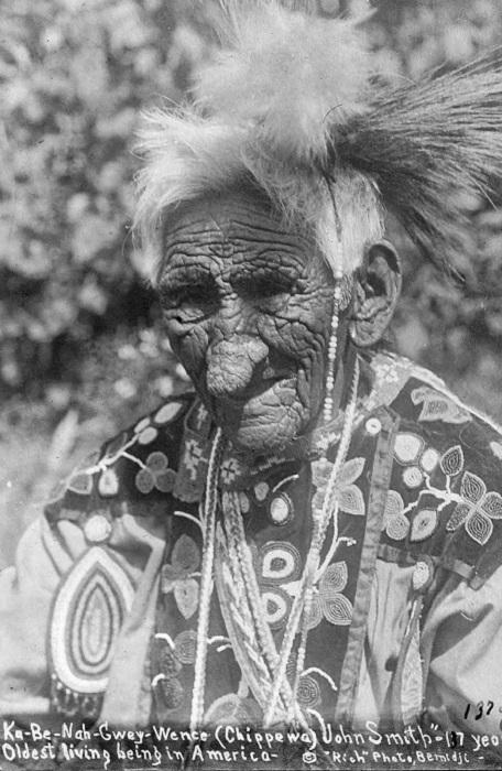 Джон Смит - индеец, который прожил 138 лет.