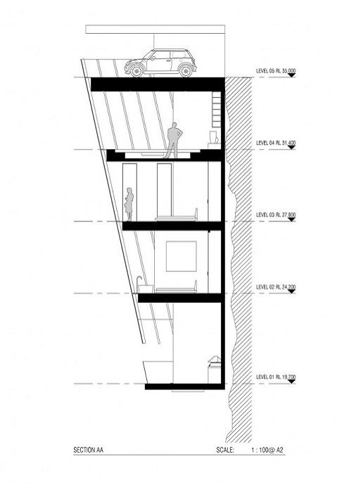 Cliff House. План строительства дома.