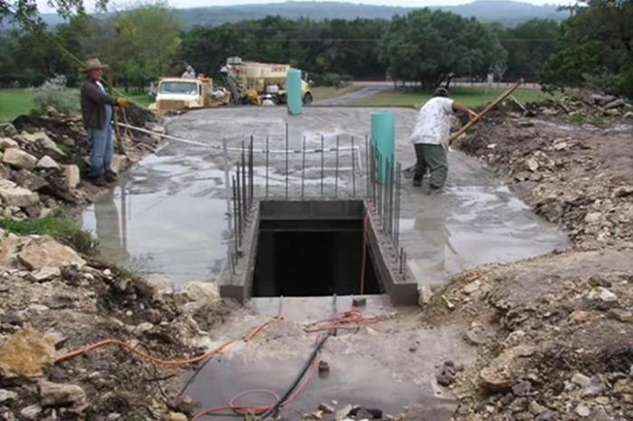 Завершающий этап строительства.