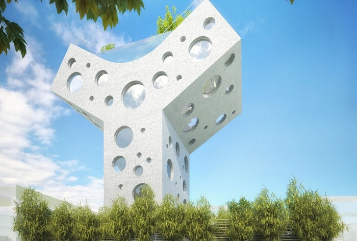 Архитекторский проект фирм MVRDV совместно с KAI Architects и c Envision Engineering Consultants.