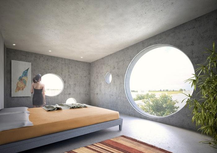 Y House. Спальня.