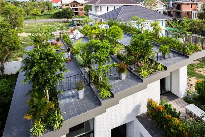 Дом с садом на крыше.