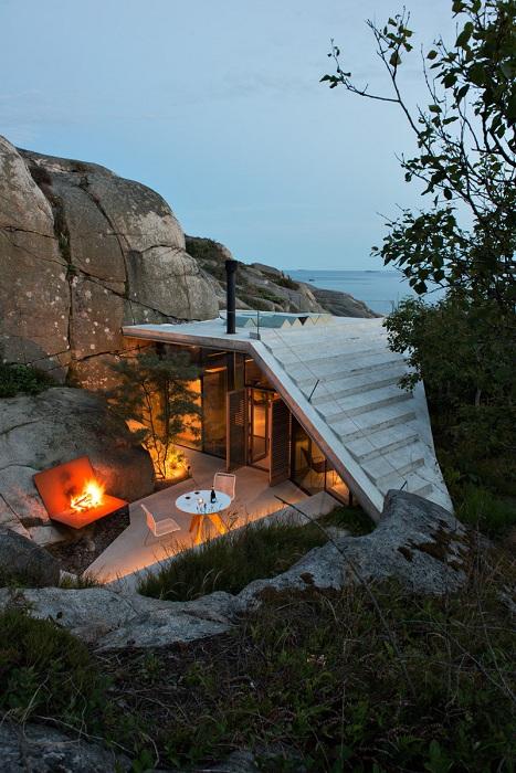 Дом с крышей-смотровой площадкой.