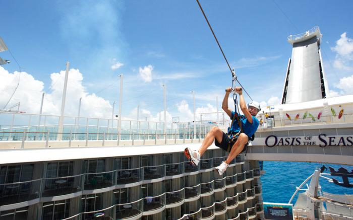 Zipline - спуск на стальном канате.