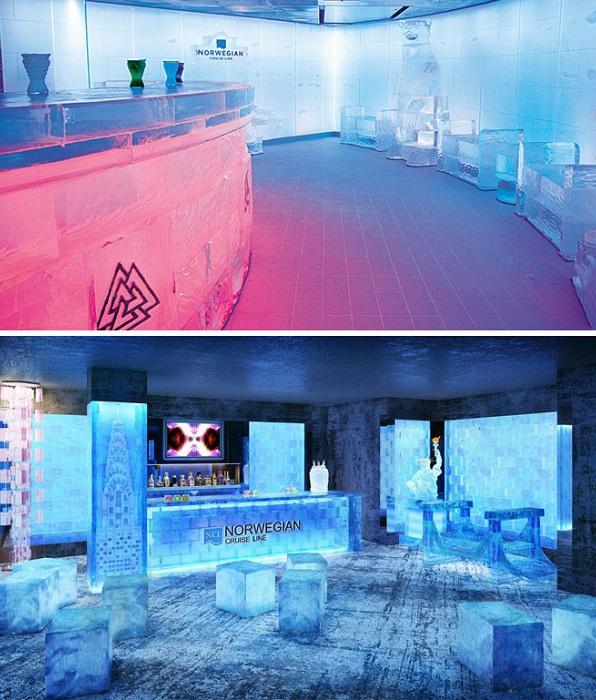 Ice Bar - бар, сделанный из ледяных глыб.